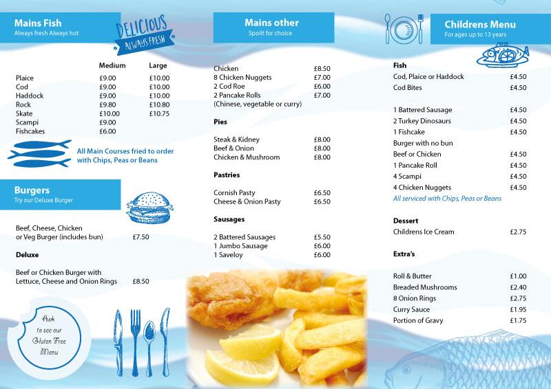 Roughton Fish Shop Menu Design